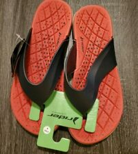 """Mens Rider """"Infinity T"""" Thong Comfort Sandal Flip Flop Red Size 9"""