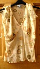 Ladies very pretty sheer blouse size 14
