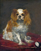 King Charles Spaniel English Toy Dog Painting Fine Art Real Canvas Print