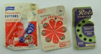 Vintage Snaps on Card Old Advertisement Sewing Woolco Prims