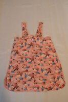Dolce & Gabbana Pink Floral Linen Button Back Dress Womens Size IT40 UK8 EU36