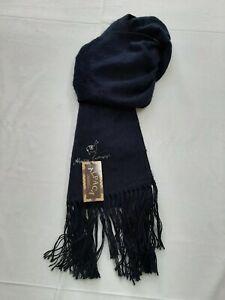 Alpaca camargo sciarpa scaf blu notte blue waith men uomo classica made in italy