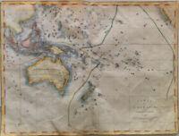 Oceania, Australia; P.Bineteau - Carte de l'Oceanie ou Cinqiueme partie du Monde