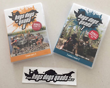 Pig Hunting DVD Hogs Dogs Quads 6 & 7 with FREE STICKER & 2x BONUS FISHING DVDs