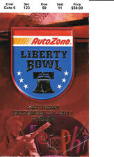 2011 Liberty Bowl Ticket Stub - Cincinnati vs Vanderbilt