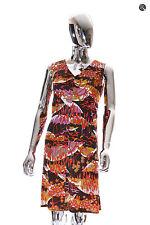 Womens Trendy Vintage Vixen Hand Made V-Neck Sleeveless Pencil Dress Size M