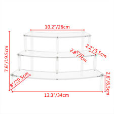 Arc Clear Acrylic Display Riser Shelf 3steps Removable Rack for Figures Toys Top