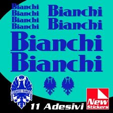 Set adesivi BIANCHI bici bike stickers decals frame colore BLU mod.OLD VINTAGE