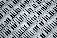 MUSIC PIANO KEYBOARD   100% Cotton Quilt Fabric *by the 1/2 yard* BTHY