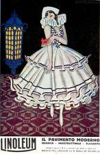 Nino Nanni -LINOLEUM-Il pavimento moderno-Moda Ballerina-Milano-Pubblicità 1925
