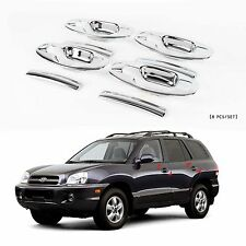 Chrome Door Handle Catch Molding Trim Cover for 01-06 Santa Fe