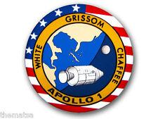 "4"" APOLLO 1 NASA SPACE HELMET CAR BUMPER EMBLEM DECAL STICKER MADE IN USA"