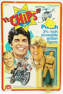 """Chips Ponch 3.75"""" Poseable Action Figure 1977 Mego Corp No. 08010/1 NRFP"""