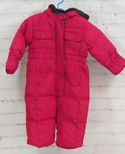 BABY GAP Baby Girl's Pink Down Snowsuit Fleece Lining & Hood Sz 12-18 Months