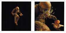"Jeremy Geddes ""Adrift"" + ""Adrift (detail)"" 2 Lithograph prints MINT CONDITION"