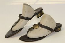 Bernardo MISMATCH 6 7 M Womens NEW Brown Leather Flip Flops Sandals Shoes