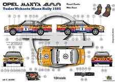 [FFSMC Productions]  Decals 1/24 Opel Mantal 400 n°5 Tudor Webasto Manx Rally 85