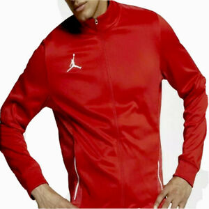 Nike Air Jordan Men's Sizes Full Zip Athletic Red Track Jacket Sportswear
