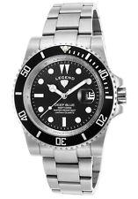 Legend Deep Blue Black Silver Mens Watch LD-1002-11