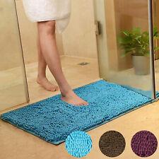 New ListingSoft Microfibre Shaggy Non Slip Absorbent Bath Mat Bathroom Shower Rugs Carpet