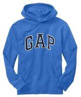 GAP Men's Arch Logo Pullover Hoodie Size M MEDIUM L LARGE Blue NWT