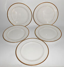 Cleveland China Gold Band Set/5 Dessert Plates