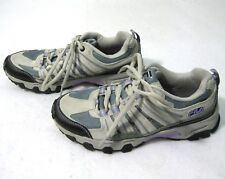 FILA Day Hiker Women's Gray Purple Trail Running Shoes (Size 6) Suede Leather