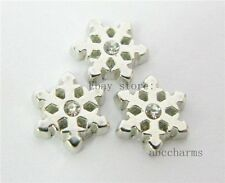 LOT 10 pieces Snowflake floating charms for living locket free shipping FC062
