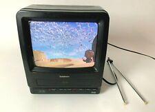 "Symphonic 9"" CRT Television TV VCR Combo TVCR9B1C VHS Recorder Retro Gaming"