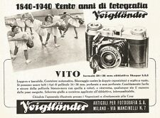 W2698 Cento anni di fotografia Voigtlaender - Vito - Pubblicità del 1940 - Ad