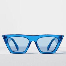b29d8454a7f CELINE Edge Sunglasses in Neon Blue Acetate CL 41468 S