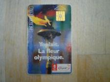 telecarte yoplait flamme olympique 50 unités GEM 12/90