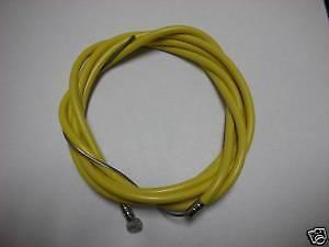 "BICYCLE BIKE 1 Brake Cable 68"" + 1 2P Housing 60"" YELLOW NEW"