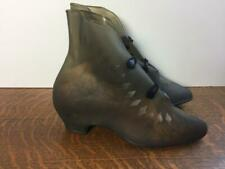 Vintage 1940s Womens Rubber Rain Boots Over Shoes Galoshes For High Heels Rare