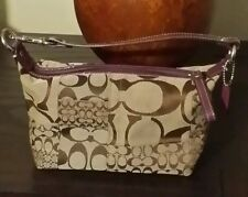 New Coach C signature collection canvas/ patent leather small bumblebee handbag