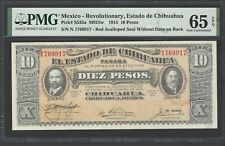 Mexico 10 Pesos 1915 PS535a M924w Uncirculated Graded 65