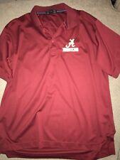 Men's Alabama Crimson Tide Wrestling Singlet Polo Golf Shirt Large L Red
