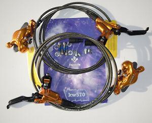 Formula - Brake set CURA X/CURAX Gold Carbon levers titanium screws f+r NEW