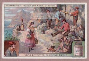 Basque Quarry Workers Spain France Tagliapietra Baschi c1910 Trade Ad Card