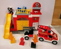 LEGO DUPLO 6168 FIRE STATION LOVELY CONDITION FIGURES FIRE ENGINE INSTRUCTIONS