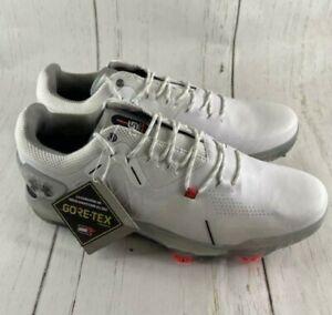 Men's Under Armour Spieth 4 Gore-Tex White Golf Shoes 3022575-100 Size 9.5