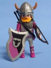 Playmobil barbare chevalier/Archer/viking avec armes-Château de joutes navire