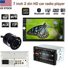 "7"" Bluetooth 2 DIN Car Stereo MP5 MP3 Player FM Radio Aux TV & Camera 7012B"