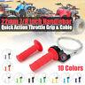 Pit Dirt Bike Quick Action Throttle Grip Twist Cable CG125 150cc 200cc 250cc