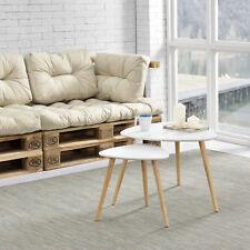 [en.casa]® Tavolino da salotto set di 2 bianco tavolo d´appoggio tavolo salotto