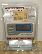 TT Systems caller ID date & timelcd clock call summary screen multiple message