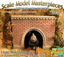 "Z Scale ""Brick"" Tunnel Portal Scale Model Masterpieces *NEW PRODUCT*"