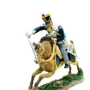 Hand-Painted Mounted Toy soldier with Artillery British Trooper 13 Lt Dragoons