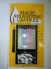 10 X MAGIC TRICK FUN RELIGHTING CANDLES BIRTHDAY CAKE WEDDING PARTY XMAS JOKE