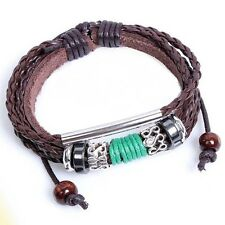 Leather Bracelet Unisex Steampunk Surfer Tribal Goth Friendship Celebrity LB20